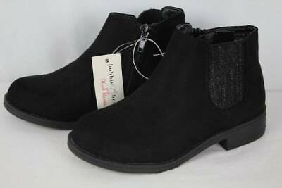 Girls Dressy Boots (NEW Youth Girls Black Ankle Boots Size 3 Zip up Fashion Shoes Dressy)