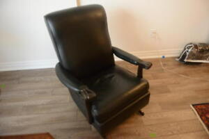 Vintage Style Leather Rocking Chair
