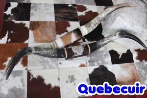 COWHIDE RUG TAPIS PEAU DE VACHE DECORATION PROMOTION longhorn