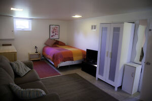 Big, bright fully-furnished bachelor for rent - $975/mo