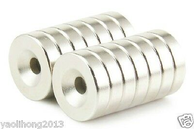 50pcs N50 Strong Countersunk Ring Magnets 12 X 3mm Hole 4mm Rare Earth Neodymium