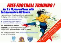 FREE FOOTBALL TRAINING IN JULY!