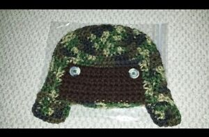 Crocheted 9 to 12 months Hunting Hat