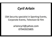 CBA security Events .corporate /tv.film /sport/festival /.SIA REGISTERED