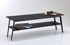 This stylish Hiba Two-Tier black Metal Coffee Table. £70