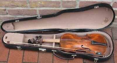 Geige in Koffer mit Bogen, L-55 cm, Alters-u. Gebrauchsspuren  (281-11096)