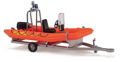 HO Busch 59951 DLRG Inflatable Rescue Boat with Trailer