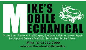 Onsite Repairs lawntractors, small engines, snowblowers