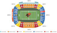 BC LIONS VS OTTAWA REDBLACKS + 52 YARD + SECOND ROW + PAIR