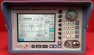 Rohde Schwarz Sm300 Signal Generator 9khz To 3ghz