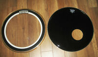 """TWO 22"""" BASE DRUM HEADS"""