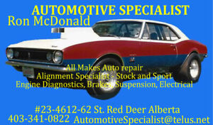Automotive Specialist  403-341-0822  4612-62 st Bay #23 Red Deer