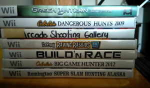 7 WII Games in great condition for 15$
