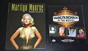 TWO MARILYN MONROE HARDCOVER BOOKS WITH DVD