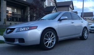 **BEAUTIFUL LOADED 6Spd TSX! BLACK LEATHER- NEW RIMS-TINT**