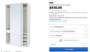 Selling an PAX wardrobe with sliding doors