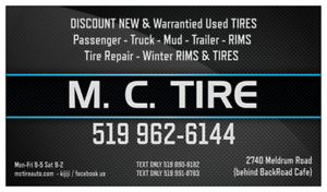 DISCOUNTED NEW TIRES  ---- did u want to save $ ?
