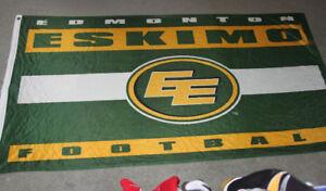 CFL EDMONTON ESKIMOS FLAG 3 FEET BY 5 FEET
