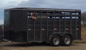 18' new condition stock trailer