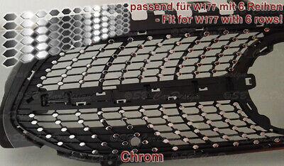 CHROM Folien für Mercedes W177 V177 A Klasse Urban- Diamantgrill Kühlergrill AMG