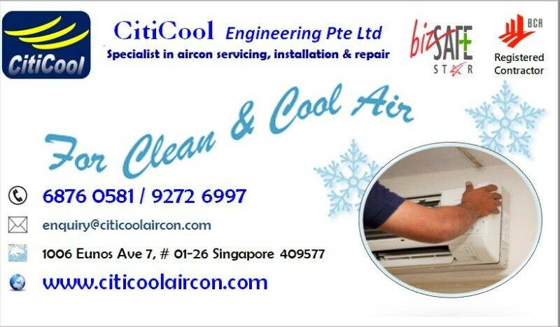 HIGHLY RECOMMENDED GENERAL AIRCON SERVICING (one-time basis) BY CITICOOL