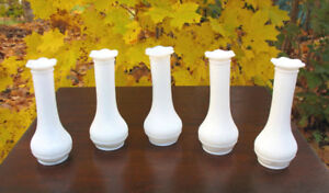 Vintage Milk Glass Vases, Crystal and Pressed Glass