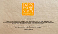"""Wanted-Accuquilt Go For """"Days For Girls"""" Team Sarnia"""