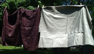 2pieces FABRIC suitable for CURTAINS or PILLOW COVERS.  Rich ch