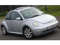 Volkswagen Beetle 2.0cc Silver 3 Door, tilt and slide sunroof