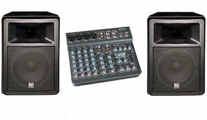 Yorkville M-8 Powered Mixer---- Electro Voice SX-80 Speakers
