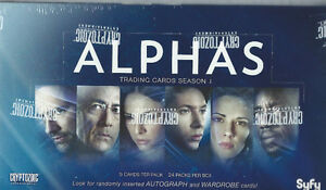 Alphas Season One Trading Cards Box  2013