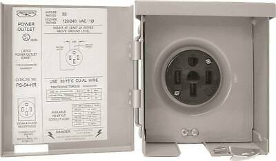 NEW Connecticut Electric PS-54-HR RV/EV Power Outlet 50 A 120/240 V 7673247