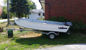 14 ft boat motor and trailer for sale