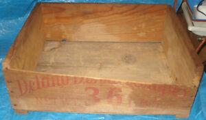 BH177 Vtg Rennie Boy Grape Fruit Wood Wooden Crate Box Kawartha Lakes Peterborough Area image 5