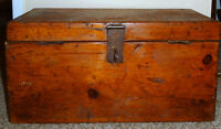 Antique Primitive Pine Tool Chest with Insert Tool Caddy