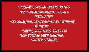 Free holiday lighting & or window painting quote Kingston Kingston Area image 3