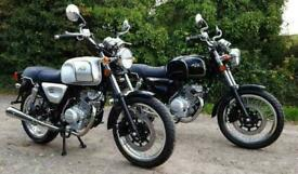 AJS tempest 125cc classic retro styled 125 leaner legal vintage motorcycle