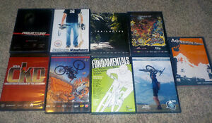 9 DVDs mountain bikes movies