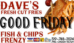 GOOD FRIDAY FISH FISH FISH - DAVE'S IS BACK!