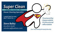 Super Clean House cleaning services and more!