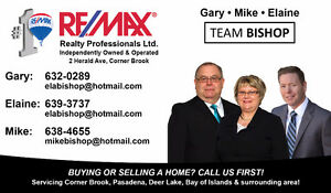 Team Bishop servicing Western NL - Selling homes is what we do!