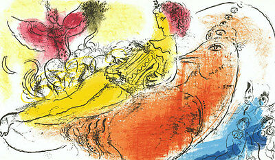 Marc Chagall  - Lassaigne - The Accordionist M.204 - Original Mourlot Lithograph