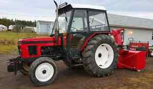 1993 zetor 7711 with pronovost side chute