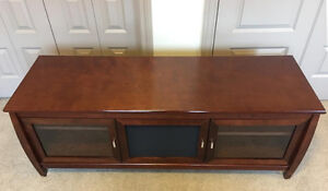 XL wide entertainment TV stand cabinet