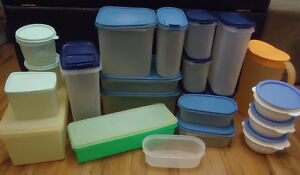 Large collection of tupperware fridge and storage containers