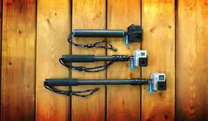 Carbon Fiber GoPro Pole and grips