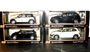 Lot of 4 Maisto  diecast cars 1/18
