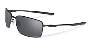 Oakley Square Wire Matte Black Iridium Polarized Sunglasses