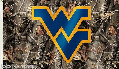 West Virginia Mountaineers 3' x 5' Flag (Realtree Camo) NCAA Licensed 5' Realtree Camo Flag