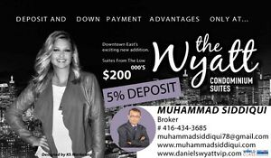 Platinum sales at Wyatt condos in Downtown with only 5% deposit